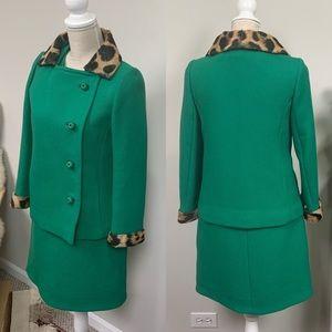 VTG Winkelman's Kelly Green Wool 2-pc Set